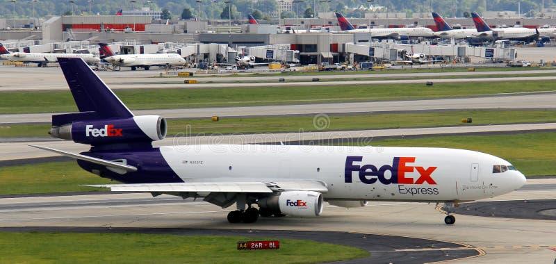 Avion de Fed Ex photos libres de droits