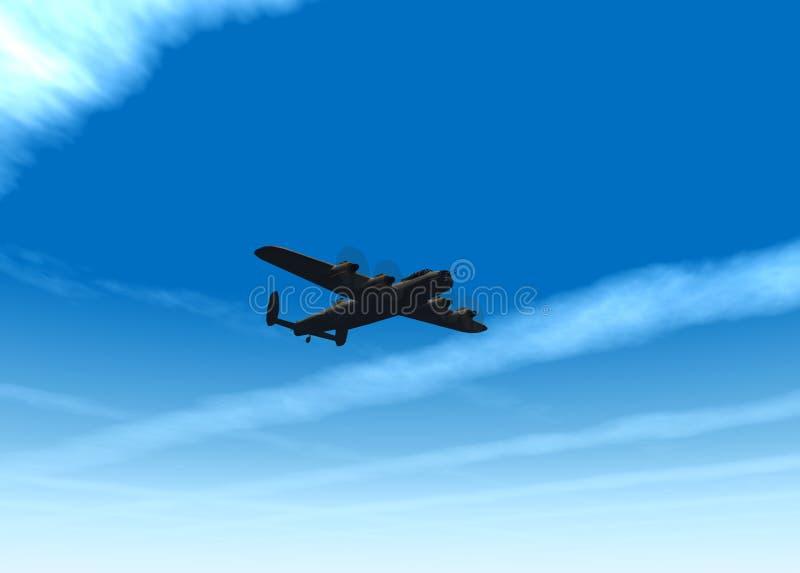 Avion de guerre illustration de vecteur