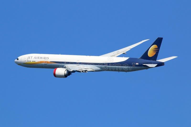 Avion de Jet Airways Boeing 777-300 photos libres de droits