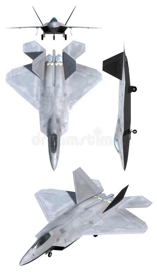 Avion de l'Armée de l'Air du rapace F22 illustration de vecteur