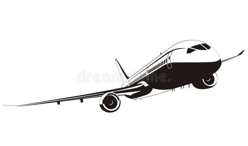 Avion de ligne à réaction Boeing-787 illustration libre de droits
