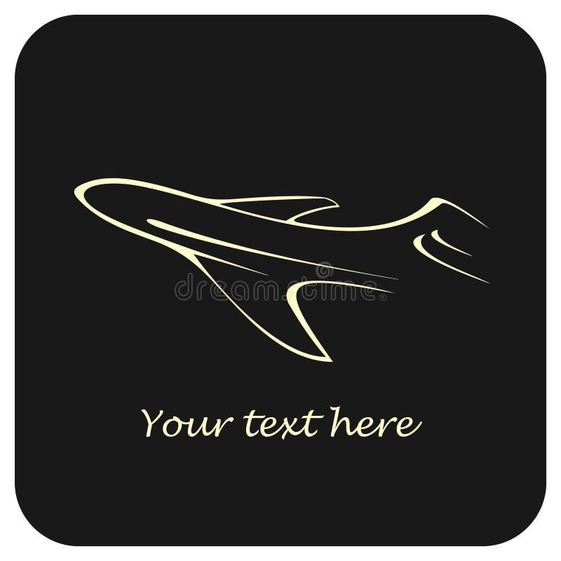 Avion de ligne illustration libre de droits