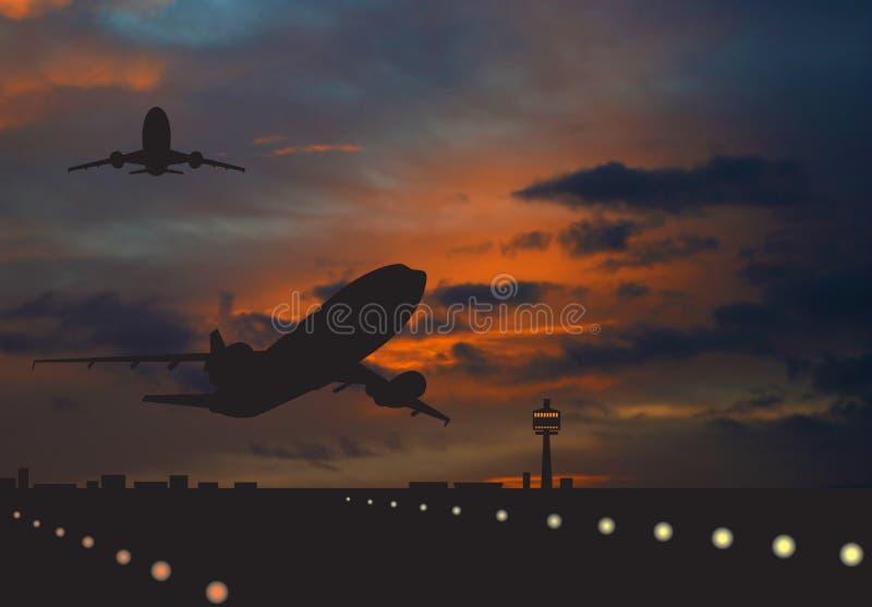 Avion de ligne illustration de vecteur