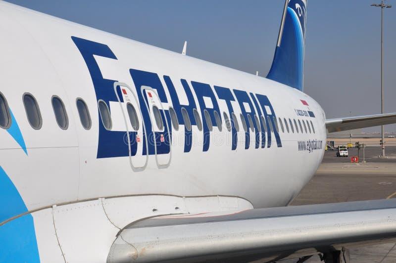 Avion de ligne aérienne d'air de l'Egypte image libre de droits