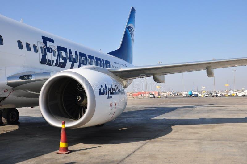 Avion de ligne aérienne d'air de l'Egypte photo libre de droits
