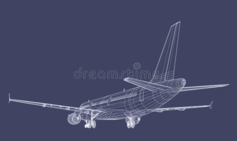 Avion de ligne d'avion de passagers illustration stock