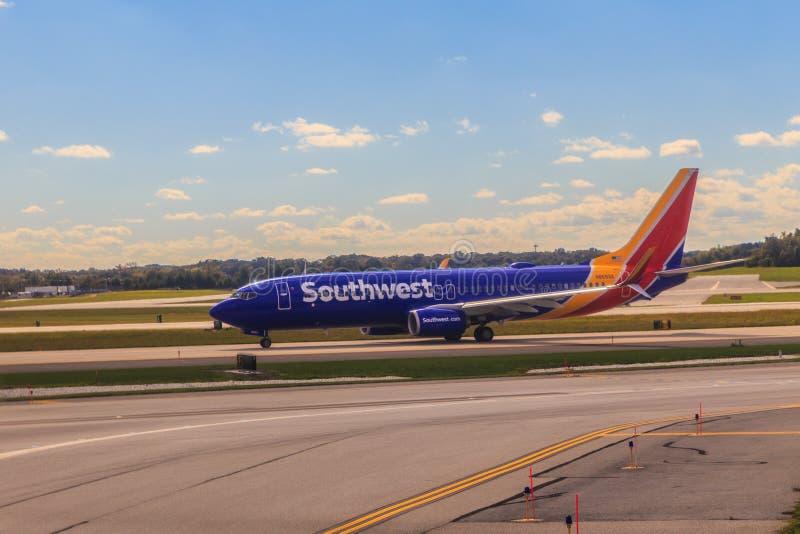 Avion de ligne de Southwest Airlines photos stock