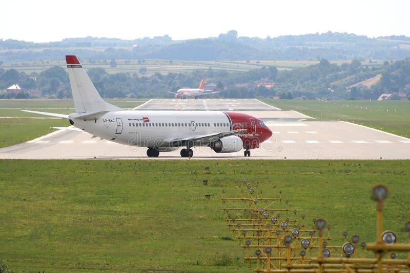 Avion de ligne norvégienne photo stock
