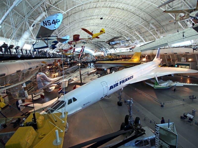 Avion de ligne supersonique de Concorde images stock