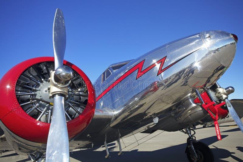 Avion de Lockheed 12, salon de l'aéronautique de Gatineau, Canada photos stock