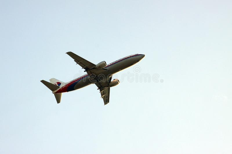 Avion de Malaysia Airlines photographie stock libre de droits