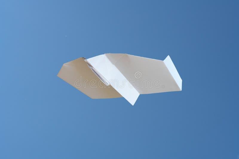 Avion de papier photo stock