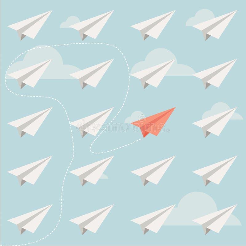 Avion de papier différent illustration libre de droits