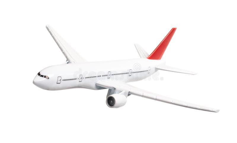 Avion de passager d'isolement sur le fond blanc photo stock