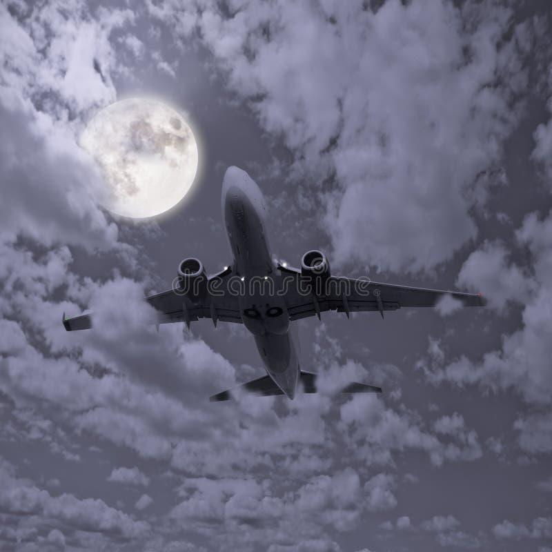 Avion de passagers image stock
