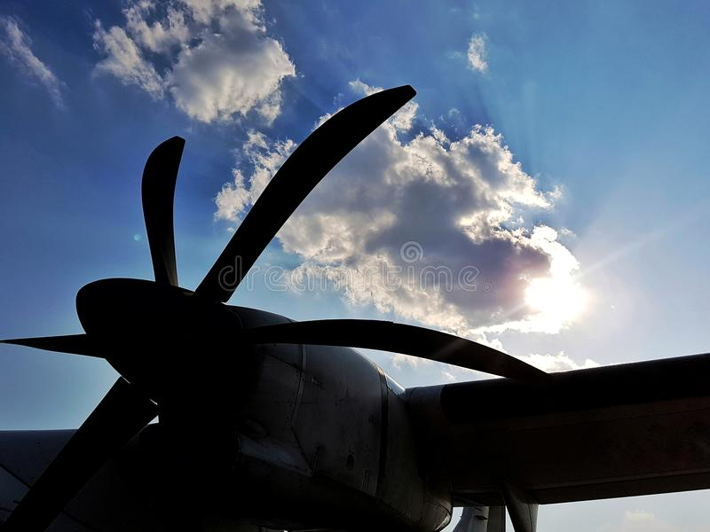 Avion de propulseur photographie stock