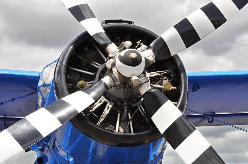 Avion de propulseur de cru images stock