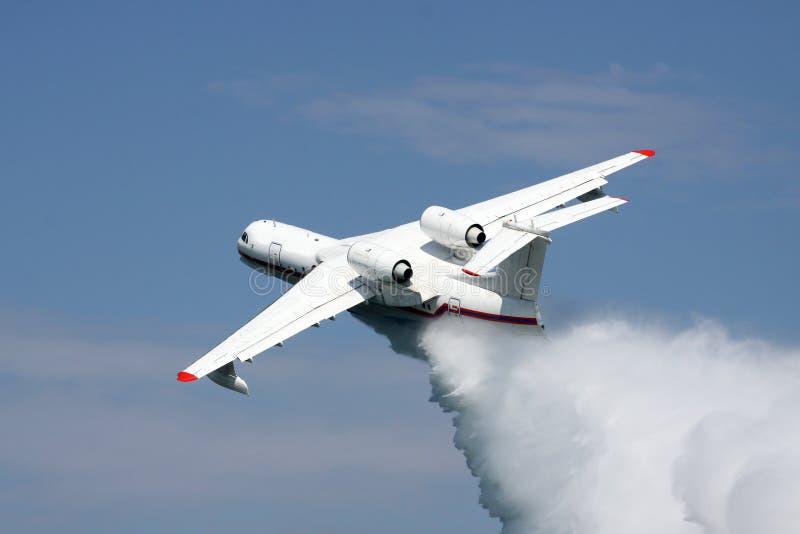 Avion de sapeur-pompier image stock