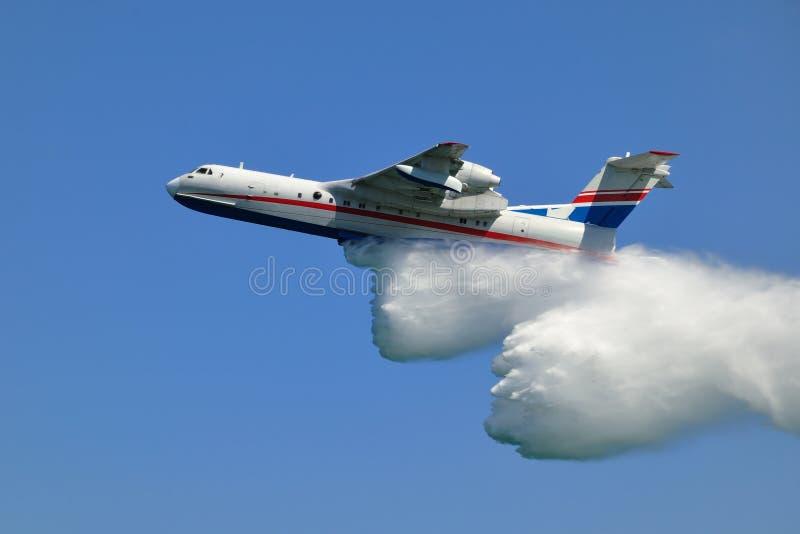Avion de sapeur-pompier photographie stock