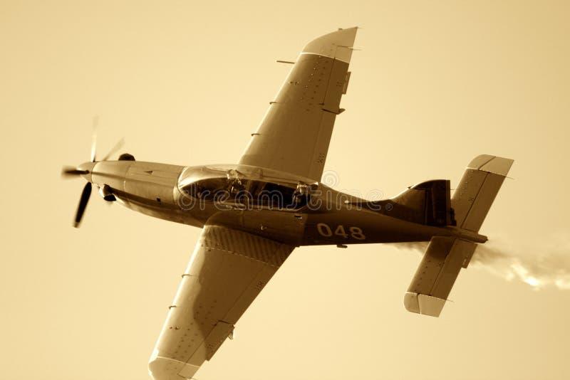 Avion de Sepiated images libres de droits