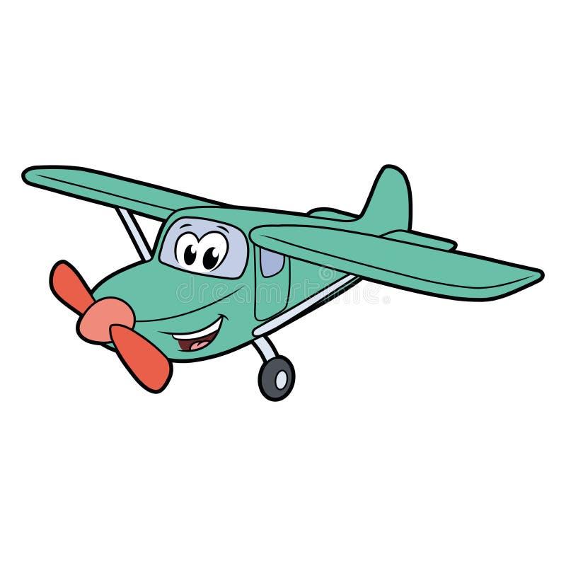 Avion de sourire mignon illustration de vecteur
