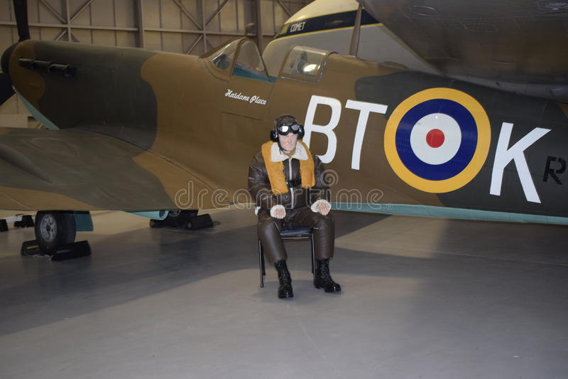 Avion de tête brûlée au musée de Cosford photos libres de droits