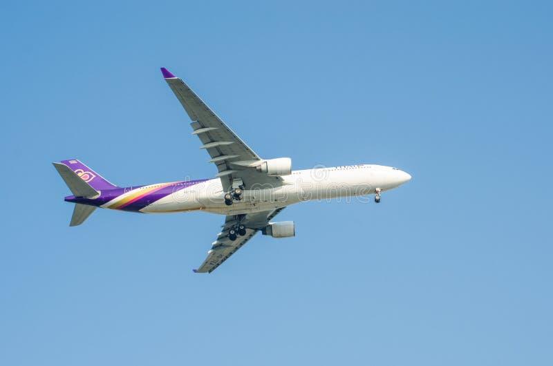 Avion de Thai Airways image stock