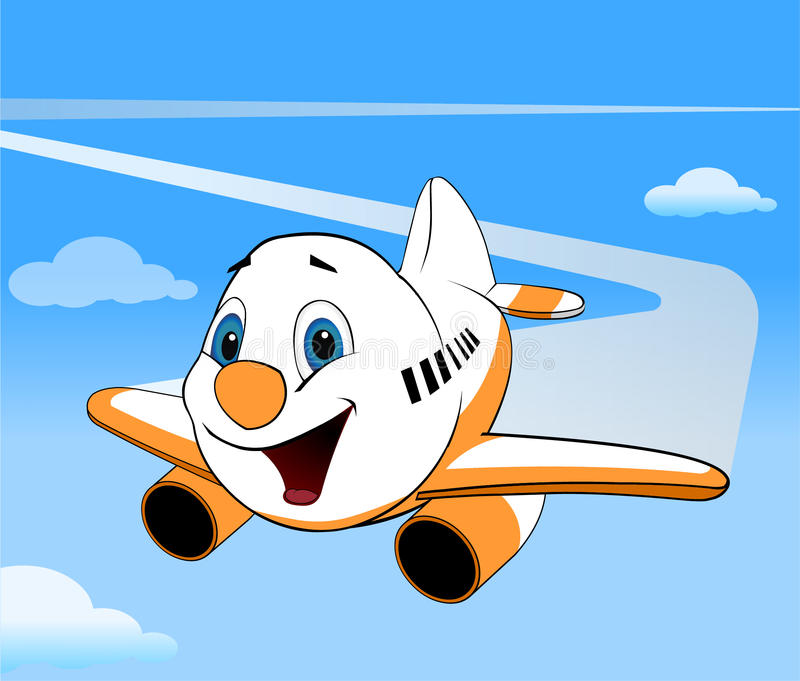 Avion de vecteur de bande dessinée image libre de droits
