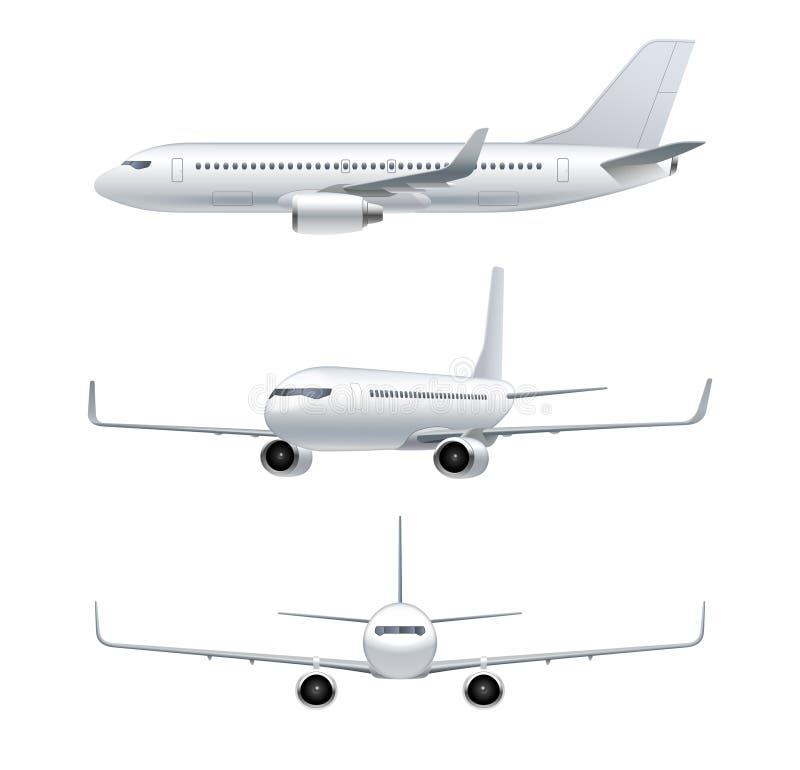 Avion de vol, avion à réaction, avion de ligne illustration de vecteur