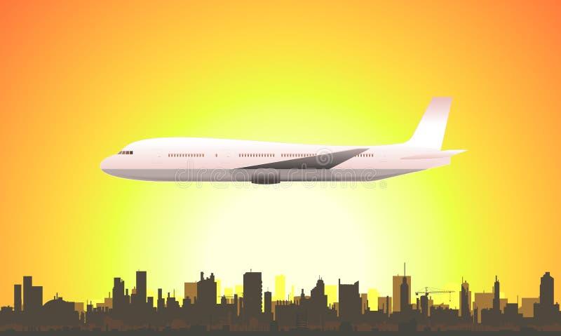 Avion de vol d'été illustration de vecteur