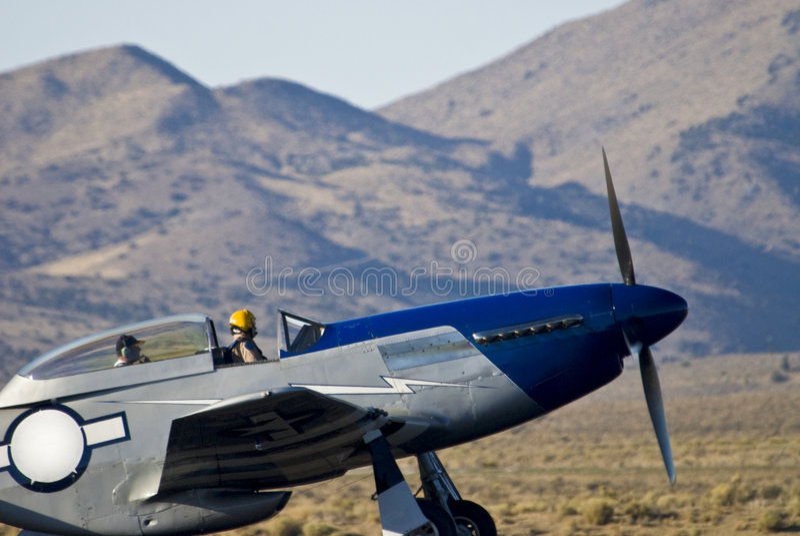 Avion de Warbird de la deuxième guerre mondiale image libre de droits