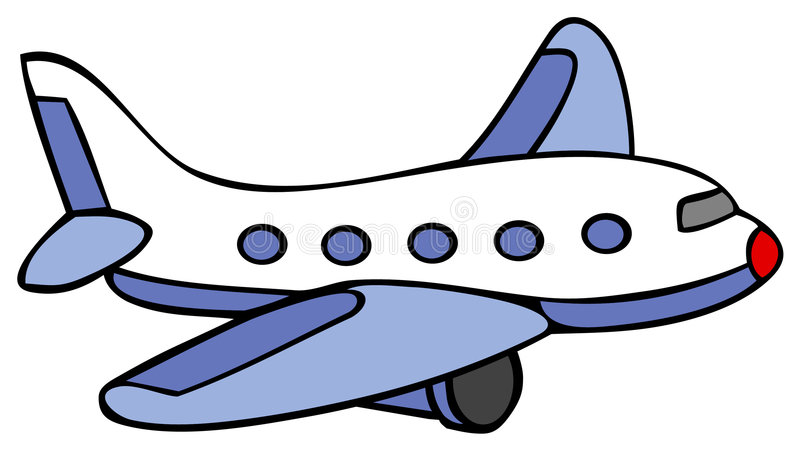 Avion - bande dessin illustration libre de droits