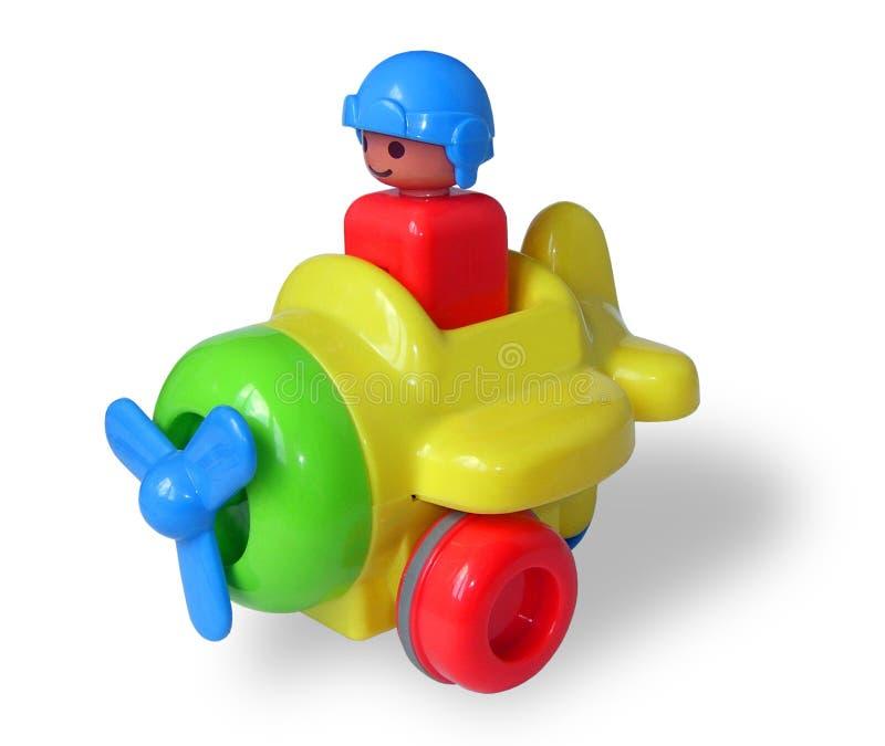 Avion du jouet des enfants image stock