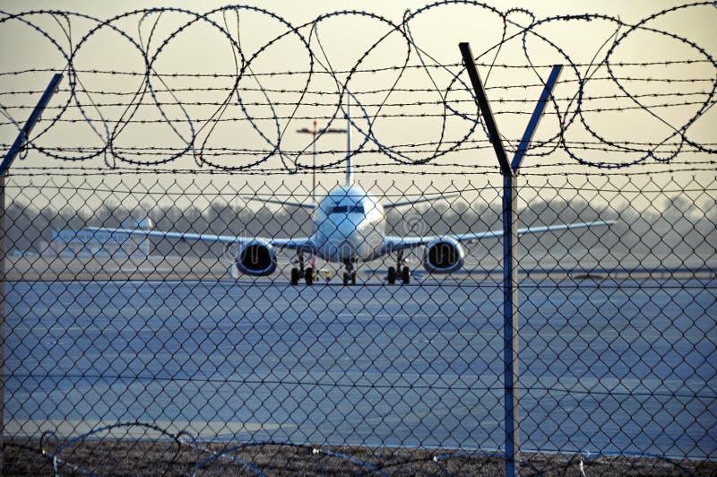 Avion emprisonné images stock