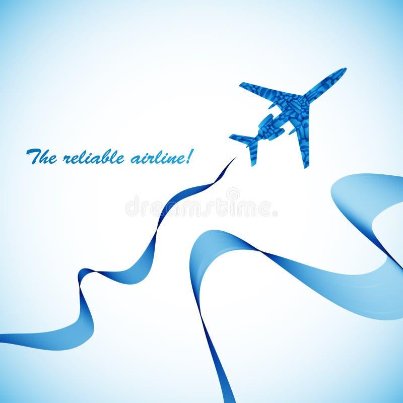 Avion, fond abstrait de vecteur illustration libre de droits