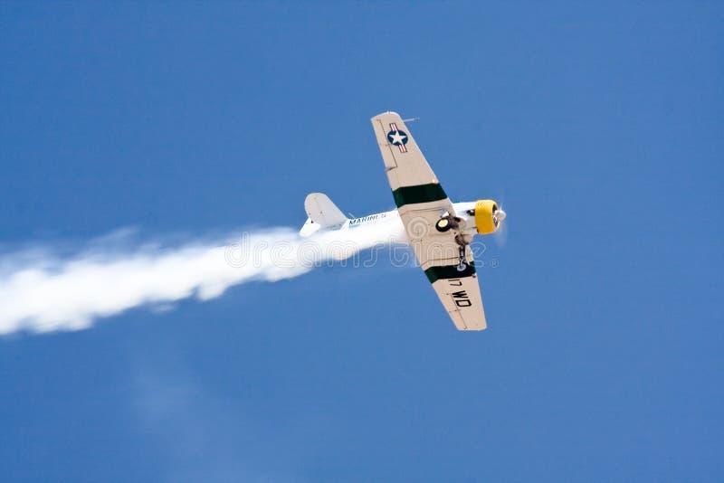 Avion historique dans la fête aérienne - AT6 nord-américain photo libre de droits