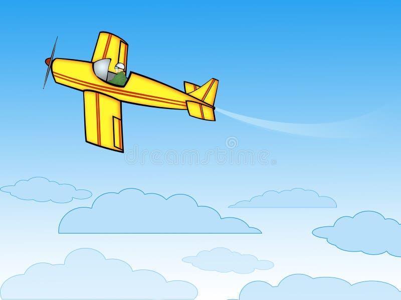 Avion jaune illustration stock