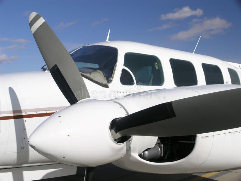 Avion jumel d'affaires d'engine images libres de droits