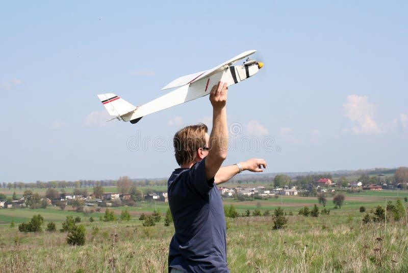Avion modèle image libre de droits