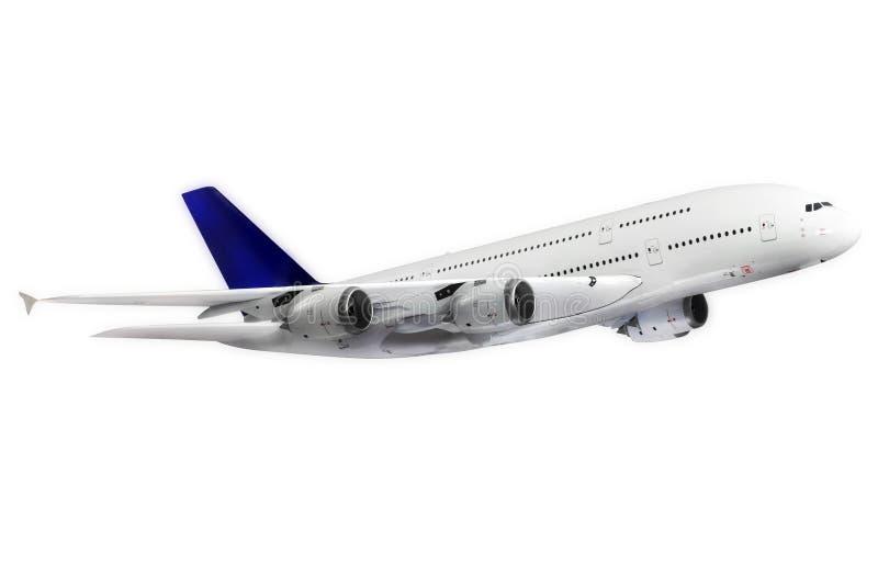 Avion moderne sur le blanc. photographie stock