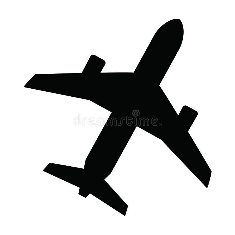 Avion noir illustration de vecteur
