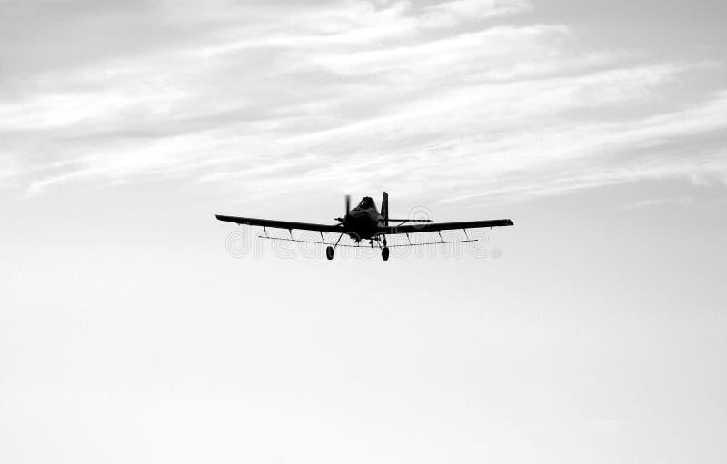 Avion noir et blanc de chiffon de collecte photographie stock libre de droits