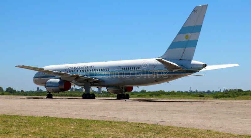 Avion présidentiel de Boeing 757 d'Argentine image stock