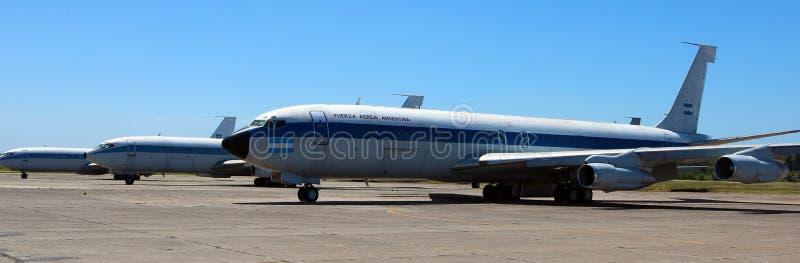 Avion présidentiel de Boeing 707 d'Argentine photos libres de droits