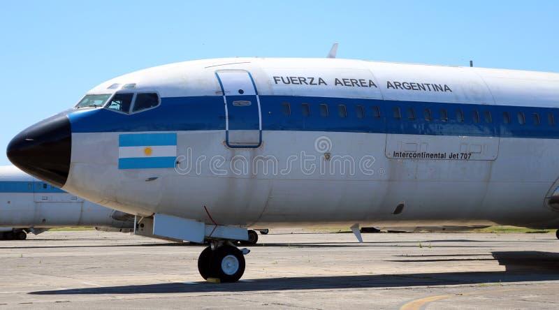 Avion présidentiel de Boeing 707 d'Argentine images stock