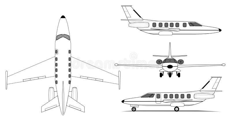Avion privé illustration libre de droits