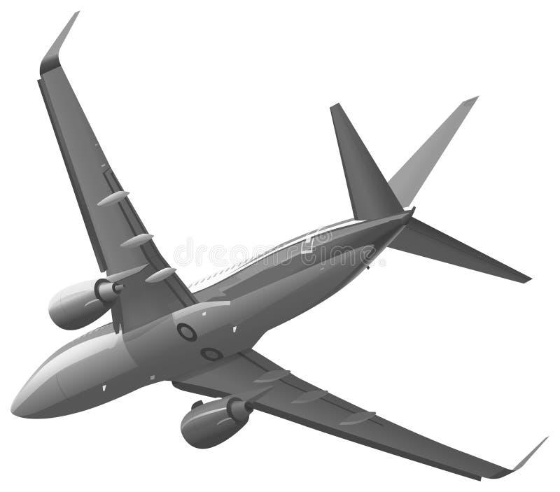 Avion privé dans le ciel illustration stock