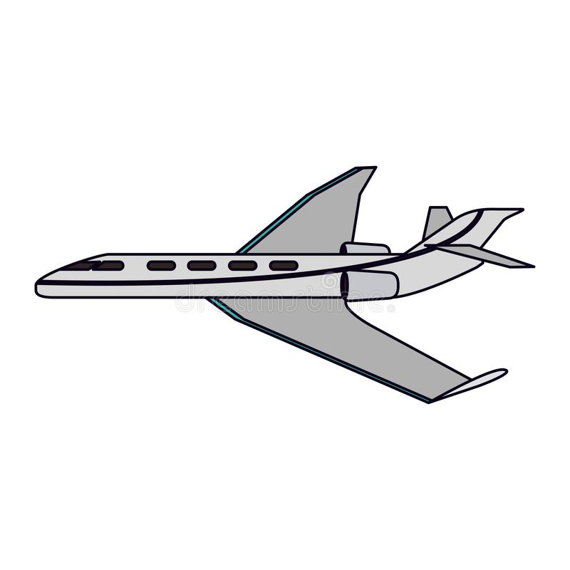 Avion privé de jet illustration stock