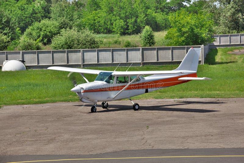 Avion privé léger image stock