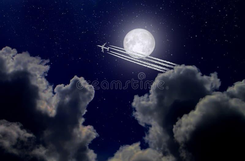 Avion ? r?action dans le ciel image libre de droits